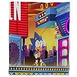 ARYAGO Manta ultra suave 130 x 180 cm, Sonic The Hedgehog Dormitorio manta cálida para cama sofá de viaje y sofá Sonic Forces