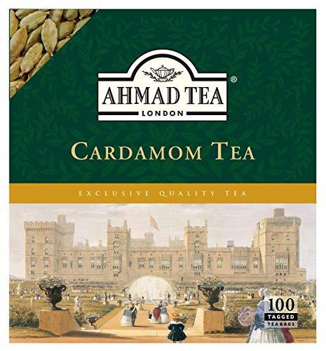 Ahmad Tea - Cardamon Tea | Schwarzteemischung mit Kardamom | 100 Teebeutel á 2 g | Teebeutel mit Band