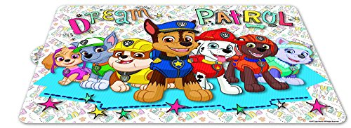 PJ Masks Theonoi Juego de 4 salvamanteles infantiles de la Patrulla Canina
