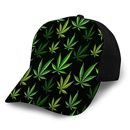 Jeffrey Toynbee Gorra de béisbol narcótica de Hierba de Hoja de Marihuana Verde Ajustable para Adultos Unisex