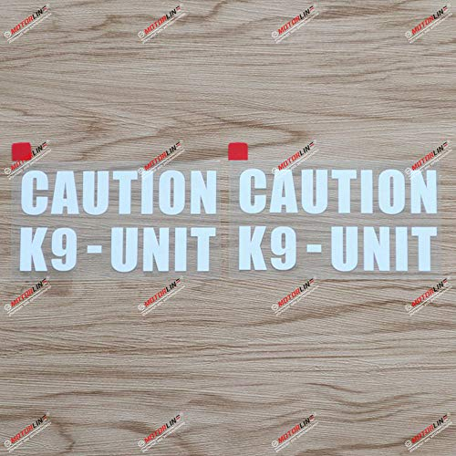 2X White 4'' K9 Unit K-9 Police Dog Caution Decal Sticker Car Truck Computer Vinyl