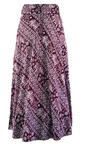 GURU SHOP Hippierock, Maxirock, Damen, Rot, Synthetisch, Size:40, Röcke/Lang Alternative Bekleidung