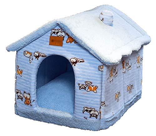 Getrichar Cama de Gato extraíble, casero Kennel Nest Pet Nest Cat Tent Dog Kennel Invierno Casa de Perro Casa de Perro Cojín Productos para Mascotas Matera de Gato Cama para Mascotas Jerarquía