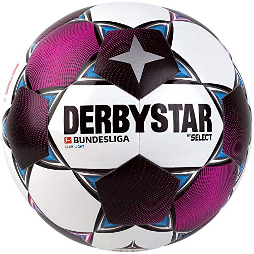 Derbystar Unisex Jugend Bundesliga Club Light Fußball, Weiss Magenta grau, 4