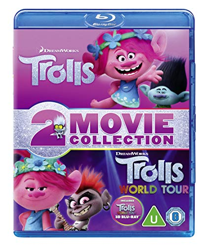 Trolls (2016) / Trolls World Tour [Blu-Ray 3D]+[2xBlu-Ray] (Keine deutsche Version)