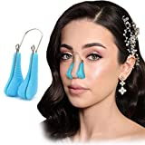 Nose Shaper Clip Pain Free Silicone Nose Up Lifting Nose Bridge Straightener Corrector Device (Blue)