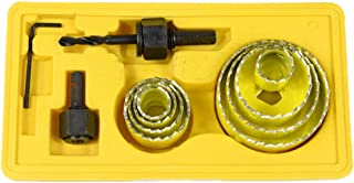 OUNONA Sierras perforadoras Brocas perforadoras Juego de herramientas para trabajar la madera 11PCS (amarillo)