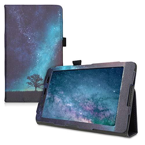 kwmobile Funda Compatible con Sony Xperia Tablet Z3 Compact - De Cuero sintético con Cierre magnético y árbol y Estrellas