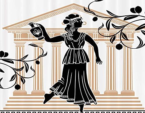 GOCHAN Kit di pittura diamante 5D fai da te,Donna greca con edificio ad anfora e motivi popolari della cultura dei rami di ulivo,Pittura diamante per la decorazione della parete di casa Art 30x40cm