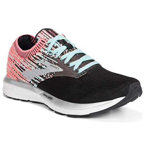 Brooks Damen-Laufschuh Ricochet, Damen, Coral/Blue/Black, 8.5