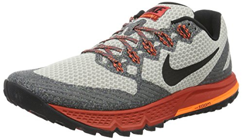 Nike Herren Air Zoom Wildhorse 3 Laufschuhe, Grau (Light Iron Ore/Rot Reef/Total Orange/Schwarz), 41 EU
