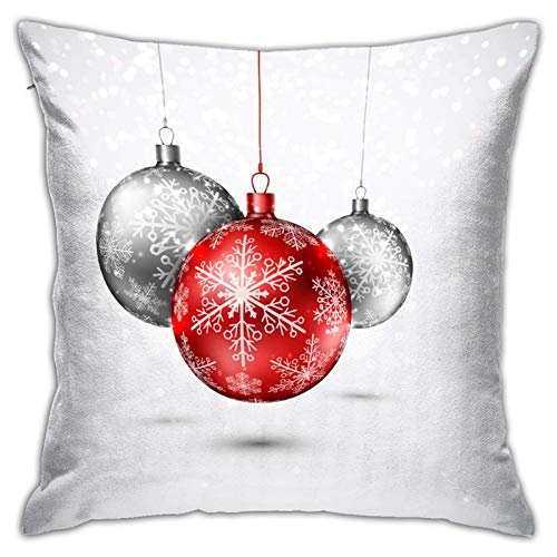 Airmark Two Sides Design Printed Throw Pillow Covers,Christmas Picture (215) Square 18x18 Inch Throw Pillow Cover