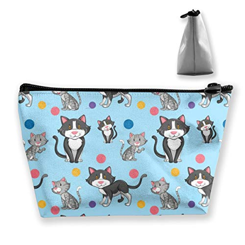 Multi-Functional Print Trapezoidal Storage Bag for Female Different Cat