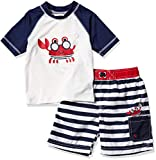 Wippette Jungen Two Piece Printed Rashguard-Set, Navy, 2 Jahre