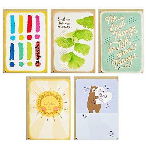 Hallmark Just Because Karten-Sortiment mit Kartenorganizer (10 Stück) – Herzlichen Glückwunsch, Beileid, Denken an dich, Freundschaft