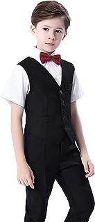 AIKOSHA ROMAN フォーマル セット スーツ キッズ 子供 男の子 結婚式 卒園 入園 入学 小学生 七五三 ベスト 黒 紺 無地