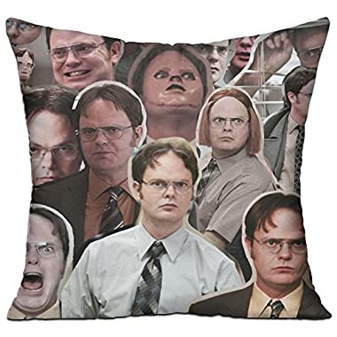 FASHIONGI Decorative Dwight Schrute The Office Pillow Cushions Cover Throw Pillow Cover & Insert For Sofa Bedroom Pillowslip Gift Household Pillowcase 18  X 18