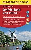 MARCO POLO Freizeitkarte Ostfriesland und Inseln: Toeristische kaart 1:100 000