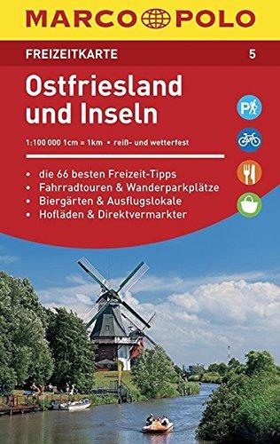 Preisvergleich Produktbild MARCO POLO Freizeitkarte Ostfriesland und Inseln: Toeristische kaart 1:100 000