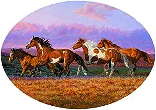 Enjoy It Wild Wings Running Horses Scene Air Freshener, New Car Scent