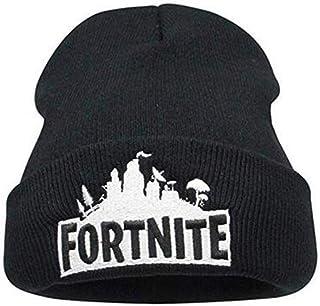 9e80dfaec4e XINSHI Game Theme Beanie Hat Men Women - Unisex Cuffed Knit Hat Cap Black  Red White