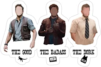 Story Storm Store Chris Pratt Stickers (3 Pcs/Pack)