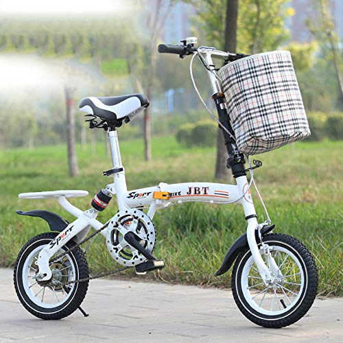 Best Buy! LINGS Foldable Bicycle Kids' Bikes Bicycle 12-inch Free Press Folding Single-Speed Bicycle...