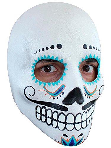 Generique - Masque crâne Adulte Dia de Los Muertos Homme à Moustaches