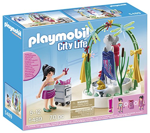 Playmobil Centro Comercial - City Life Plataforma con Luces LED Playsets de Figuras de jugete, Color Multicolor (Playmobil 5489)