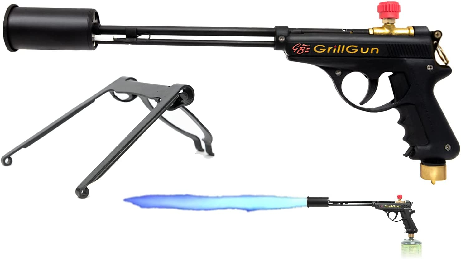 grillblazer GrillGun Basic Grill Torch & Lighter - Charcoal and Wood Starter - Professional Grilling and BBQ Handheld Blowtorch for Chefs, Men and Women Who Want to Have The Best Tool for The Job