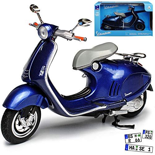 New Ray Vespa Piaggio 946 Blau Grau Ab 2013 1/12 Modell Motorrad