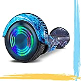 HST 6.5'' Hoverboard Patinetes de Acrobacias Patinete Eléctrico Bluetooth Monopatín Scooter Autobalanceado, Ruedas de Skate con luz LED, Motor Bluetooth de 700W… (Pintada)