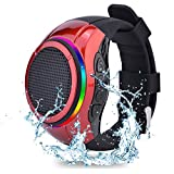 Frewico X10 Waterproof Portable Speaker Watch TWS Voice Control Bluetooth Speaker with Microphone + LED Flashing Light + MP3 Player + SD Card Slot+Selfie for car Hands Free,Bike,Running,Motorcycle