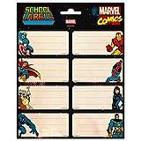 Etiquetas adhesivas Marvel, Los vengadores - Etiquetas para libros / Pegatinas nombre libros