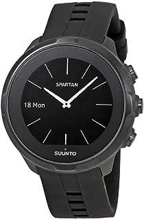 Spartan Unisex Black Silicone Sport Watch