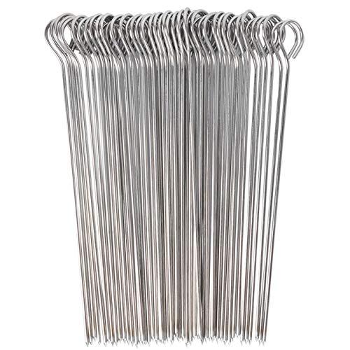 UCEC Brochetas de Acero Inoxidable, Pinchos Parrilla y Aperitivos   Reutilizables, Pack 50 uds, 15 cm