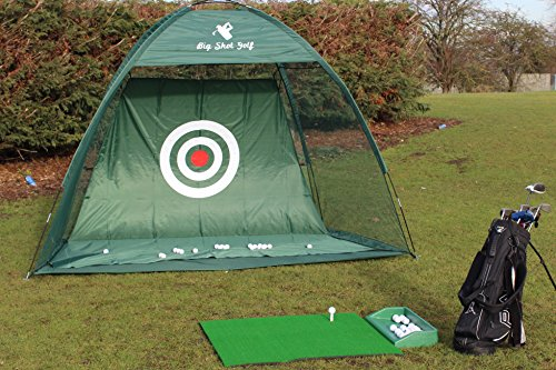 Golf Gift, Professional Golf Practice Net With Over Sized Target Sheet and Extra Fixing Loops for Double Strength, Train Like a Pro in the Comfort of your own Garden