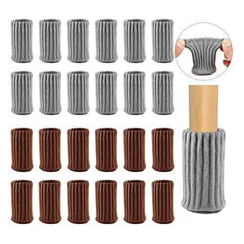 24 Piezas Calcetines para Silla, Calcetines Antideslizantes para Patas de Silla, Calcetines para Patas de Silla, para Proteger Muebles y Pisos de Madera y Reducir el Ruido