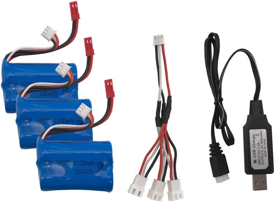 2021 autumn and winter new 3pcs 7.4V Chicago Mall 1100mAh Lipo Battery for Control Helicopter RC Remote