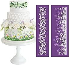 AK ART KITCHENWARE Grass Cake Mesh Stencils Royal icing Lace Mat Fondant Molds Cake Decorating Tools Cake Stencils Pastry Tools Bakeware Art Decor Stencils Food Decorating Stencils MST-26