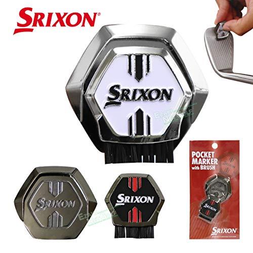 ダンロップ ポケットマーカー(ブラシ付き) SRIXON GGF-25315 ホワイト