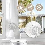2020 UPGRADE Gimars 560cm Guarnizione Universale da Finestre per Climatizzatori Mobili e Asciugatrici Adatta a Condizionatori Portatile Installazione Facile Senza Buchi Blocca L'aria Calda, Bianco