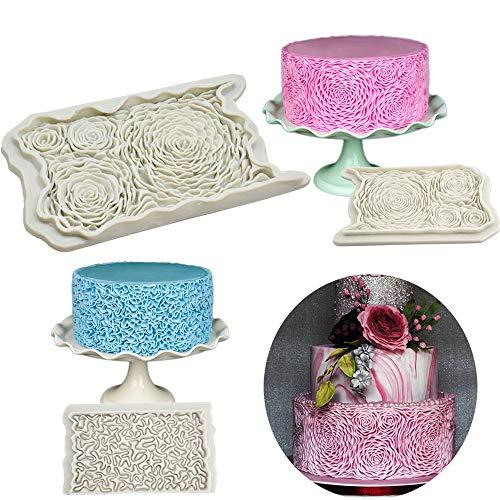 Lemon-Land Verpflichtet Blatt Lotus Sugarcraft Fondant. Dekoration von Kuchen Werkzeug für Teigwaren Mould für Kuchen Rosenblume Silicon Mold(Rose Flower)