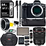 Canon EOS R Mirrorless Full Frame Digital Camera w/RF 24-105mm USM Kit, Battery Grip, Lens Mount Converter, LED Video Light, Tripod, and Accessory Bundle