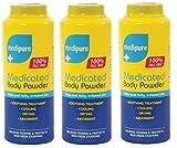 MediPure Medizinisches Körperpuder, 100% realkfrei, 200 g, 3 Stück