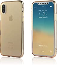 NYCPrimeTech iPhone Xs & X Case/Slim & Soft Transparent Gold Tone Cover for iPhone Xs (2018) and X (2017) / Soft Flexible & Stylish Colors Compatible with All 5.8 inch X/XS Models (Gold, X/XS 5.8