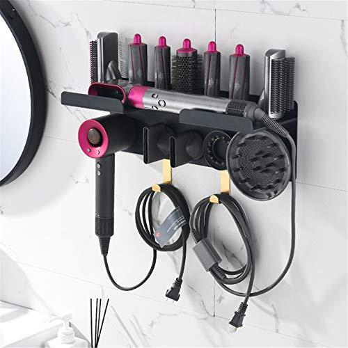 Urtzcoye rejilla de almacenamiento para rizadores, rejilla de almacenamiento para rizadores Dyson, rejilla dos en uno de pared, se puede utilizar para secador de pelo Dyson, boquilla difusora