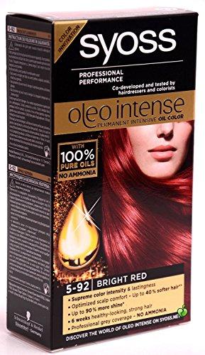 Syoss Oleo Intense Haarfarbe, 100 % reine Öle, 0 % Amoniak, 5–92 Hellrot