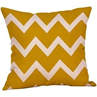 Cushion Covers, HEHEM Mustard Pillow Case Yellow Geometric Fall Autumn Cushion Cover Decorative 45cm*45cm (45cm*45cm, F)