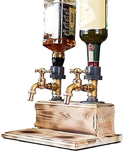 CANGQXIALENGY Dispensador de cerveza de whisky, grifos de cerveza para bares y hogares, estaciones de bebidas (doble grifo)